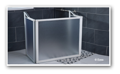 Portable Shower Door Frost White